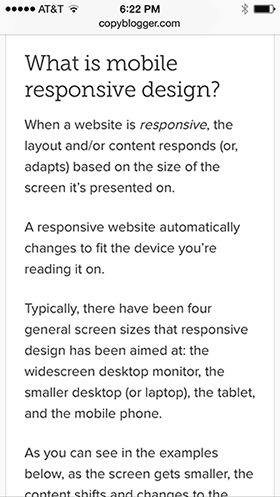 Mobile Responsive Text